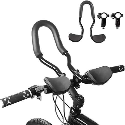 WASAGA Barra del Apoyabrazos de la Bici, Manillar de Reposabrazos de Bicicleta para Bicicleta de Carreras, MTB, Bicicleta de Carretera (Estilo Uno)