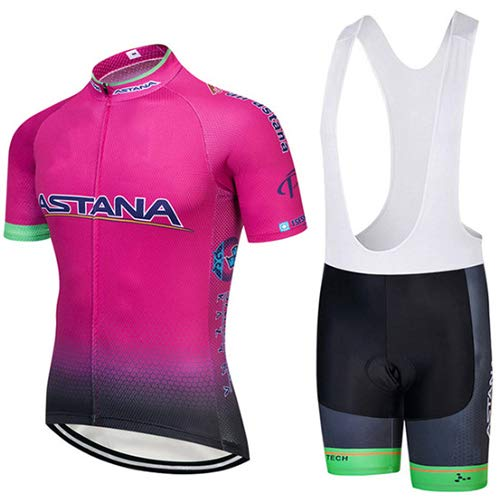 Hplights Mujeres Conjunto Ropa Equipacion Traje Ciclismo para Verano, Maillot Ciclismo Hombre+Culotte...