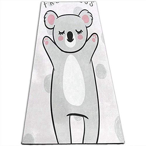 Tapis de Yoga à Pois Koala à Tapis antidérapants Tapis de Yoga pour Yoga, Pilates, Exercices au Sol, Stretch [61X180Cm]