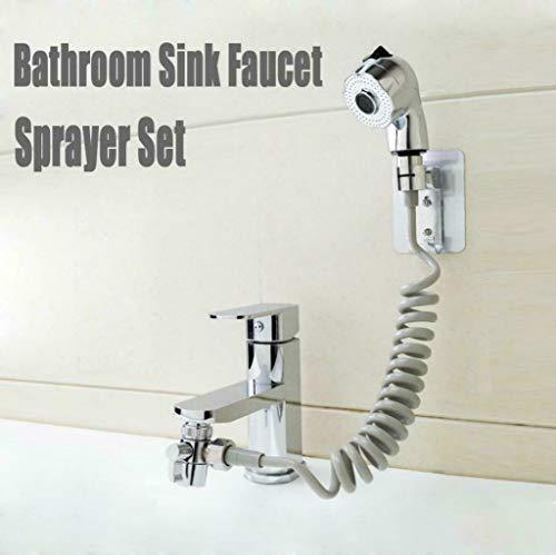Waschbecken Wasserhahn Sprayer Set für einfache Umwandlung von Tap zu Dusche, Anschluss an Tap Handbrause Kit 2 Spray-Modi (1,5 Meter)