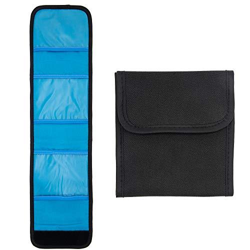 Ruberg - Bolsillo espejo Bolsa de Filtro Bolsillos Funda Porta Filtros Bolsillos con tres bolsillos para filtros CPL UV ND FLD de hasta 82 mm