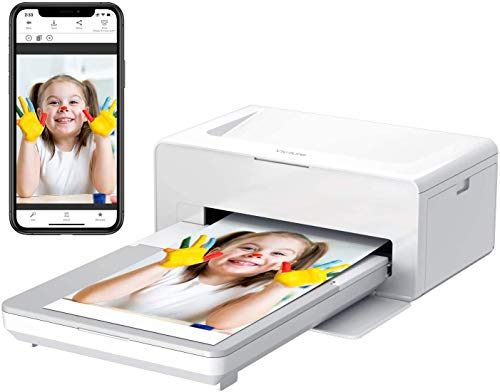 BONHEUR Impresora fotográfica portátil, Impresora instantánea de Fotos for Imprimir (4 x 6 Pulgadas) Fotos de su teléfono Convenientemente, Compatible con iOS y Android Devic