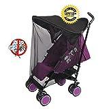 Sonnenschutz Kinderwagen mit Moskitonetzen - Universal Baby Sonnenverdeck - Pop-Up Sonnendach mit UV Schutz mit Moskitonetzen für Autositz Kinderwagen - Schwarz