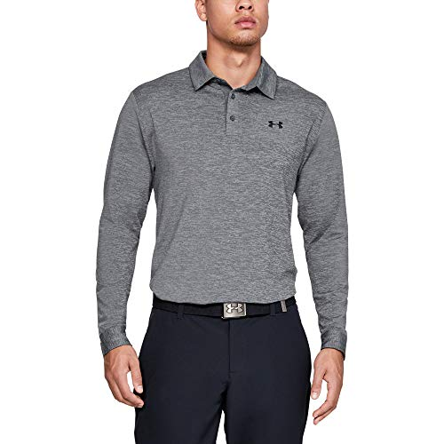 Under Armour Long Sleeve Playoff 2.0 Chemise Polo Homme Gris FR : L (Taille Fabricant : LG)