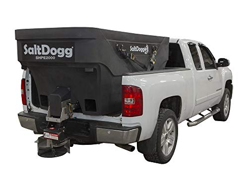 Buyers Products SHPE2000X SaltDogg 2.0 Cubic Yard Electric Poly Hopper Spreader With Extended Chute, Black