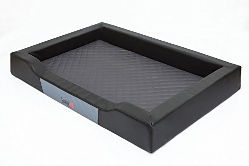 Hobbydog L DELCZA3 Dog Bed Deluxe L 75X50 cm Black-Graphite, L, Multicolored, 1 kg