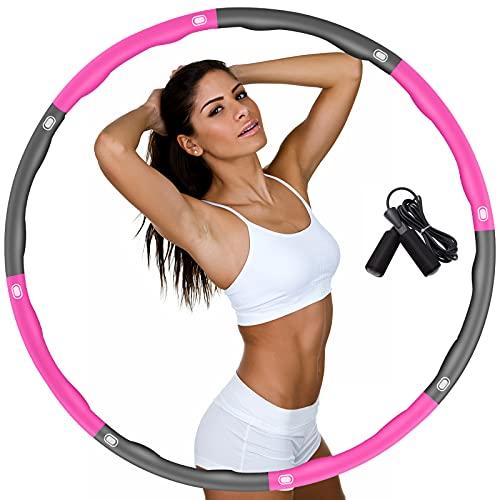 DUTISON Cerceau de fitness pour adultes et enfants - Pour perdre du poids - 6-8 segments - Amovible - Avec corde à sauter