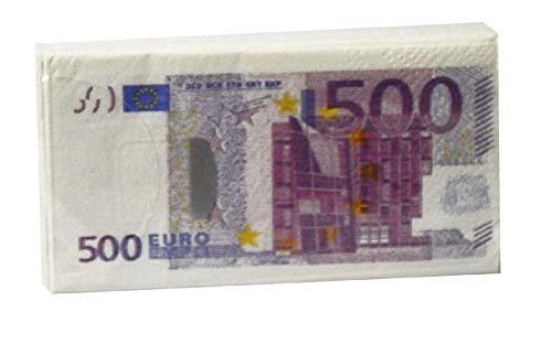 Tom - Servilletas de papel (500 euros, 33 cm), color blanco y morado