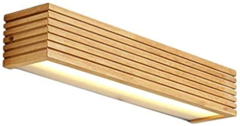 ERNTOGO Massivholz-Wand-Lampe, Feste lzerne Spiegel-vordere Lichter, Wasserdichtes Holz Energie-Effizienzklasse A +