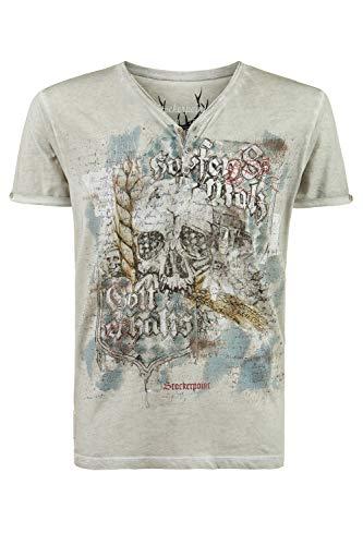 Stockerpoint Herren Shirt Bräu Trachtenhemd, Grau (Kitt Kitt), Medium (Herstellergröße: M)