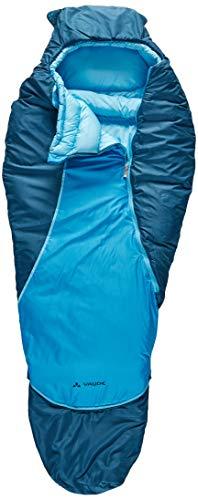 VAUDE Kinder Schlafsack Alpli Adjust 400 SYN, längenverstellbarer Kinderschlafsack, geeignet für Größen von 105-135cm, baltic sea, one Size, 129613340010