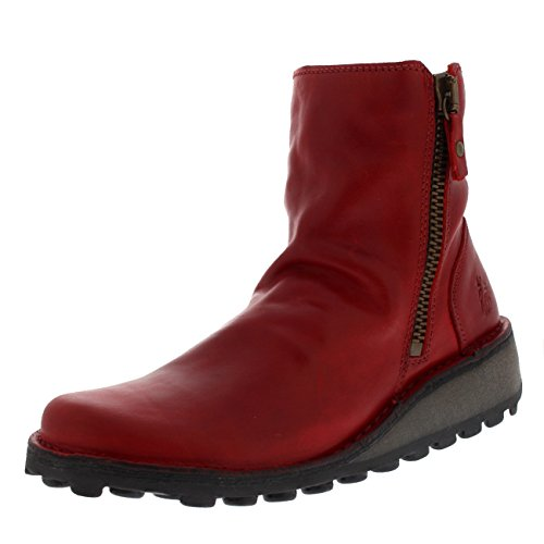 Fly London Damen Mong944fly Stiefel, Rot (Red), 39 EU (Herstellergröße: 6 UK)