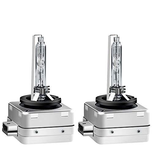 CXZC 2 Bombillas De Xenón para Faros Delanteros D1S / D1R / D2S / D2R, Lámparas Estándar De Xenón De Repuesto para Coche De Luz Blanca De 35 W 6000 K (Paquete De 2)