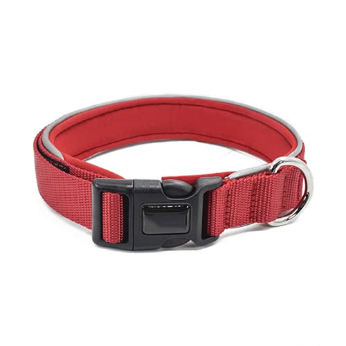Collar Reflectante para Mascotas para Gatos y Perros Collar Universal Ajustable para Mascotas Collar Impermeable Collar cómodo y Duradero Collar Transpirable Ligero de 2,5 cm de Ancho