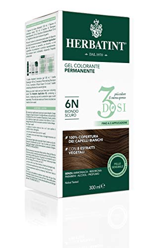 Herbatint Gel Colorante Permanente 3Dosi - 6N Biondo Scuro 300ml