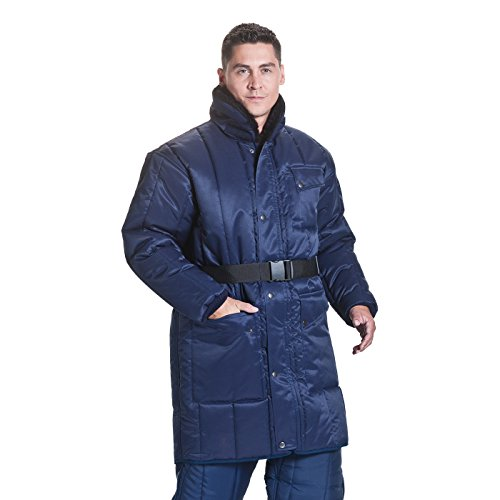 ColdTex Tiefkühl Mantel Marineblau, Größe XL