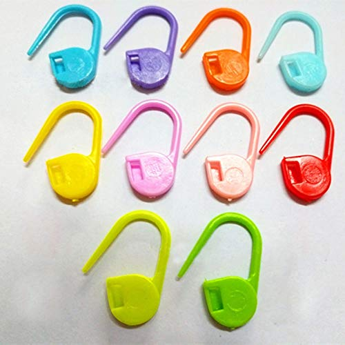 50Pcs Plastic Knit Stitch Knitting Tools Needle Clip Hook Mixed Color Crochet Stitch Knitting Accessories DIY Hand Sewing Kit (Color : Color Mixing)
