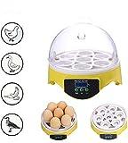 Mini incubatore, 7 uova, incubatrice automatica della temperatura per pollame, pollo, anatra, quaglia, l'incubazione delle uova. (spina europea)