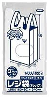 ジャパックス レジ袋(乳白) 省資源 関東8号/関西25号 ベロ付 100枚×20冊×4箱入