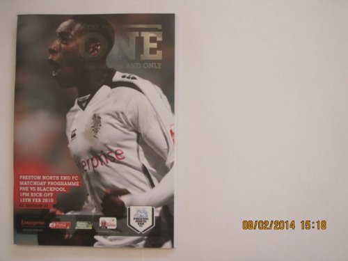 Preston North End v Blackpool matchday programme 13.02.2010