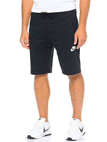 Nike Herren Advance 15 Fleece Short, Black/White, S