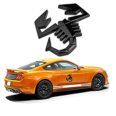 3D Car Stickers Metal Car Auto Logo Scratch Decal Bumper Funny Sticker Chrome Badge Auto Scorpion Emblem Self Adhesive Sticker Car Styling Motorcycle Decorations Accessories from Azoepart