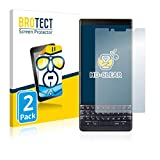 BROTECT Schutzfolie kompatibel mit BlackBerry Key2 LE (2 Stück) klare Bildschirmschutz-Folie