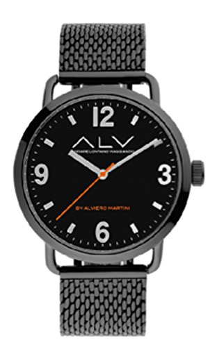 Orologio Alviero Martini ALV0070 silver maglia milano total black nero...