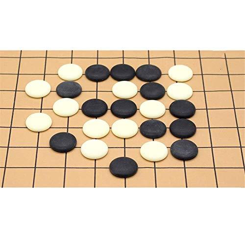 XHH Juego de Mesa de ajedrez Go Juego de Mesa de Estrategia China Go Set con Tablero de bambú Go e Incluye Cuencos y Piedras 2 Jugadores clásico (Rompecabezas de Entretenimiento Familiar)