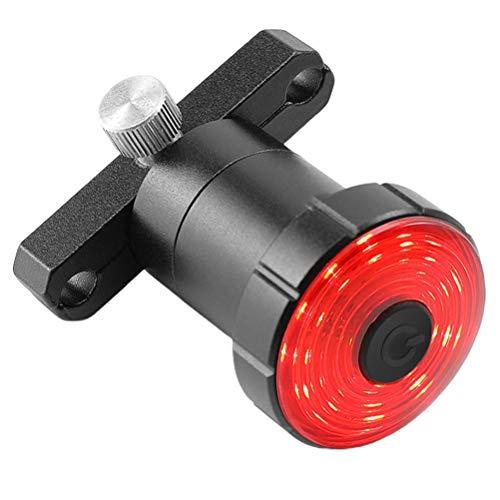 Gazaar Fahrrad-Rücklicht, intelligentes Fahrrad-Rücklicht, USB wiederaufladbar, Auto-Brems-Sensor, wasserdicht, Helm-Rucksack, LED-Lampe, Sicherheitswarnung, Stroboskoplicht, 7 Modi