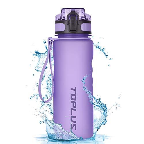 TOPLUSスポーツボトル 水筒 ウォーターボトル 自転車用ボトル ドリンクボトル BPAフリー 登山子供大人兼用 グラデーションブラック500ml(16oz)