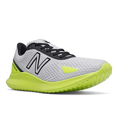 New Balance Men's Vatu V1 Running Shoe, White/Lemon Slush, 7.5 X-Wide