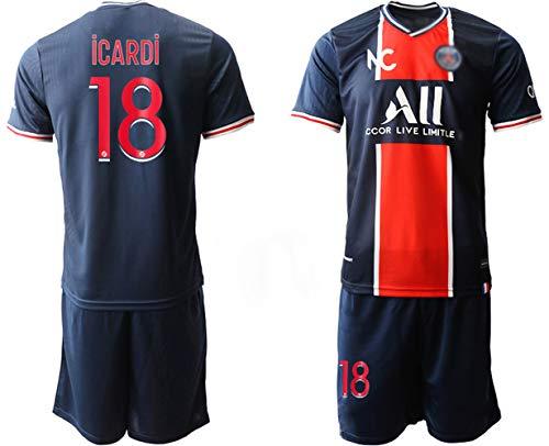PHNG 20/21 Herren ICARDI 18# Fußball Trikot Heim Trikot und Shorts (M)