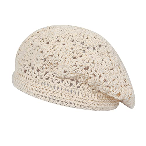 Cotton Slouchy Crochet Beret