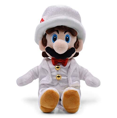 GHJU Plüschtiere Plüschtiere Mario Odyssey Brautkleid Bowser Koopa Peach Luigi Drache Dunkle Plüschtiere weiche Puppe 30 cm QingQiao