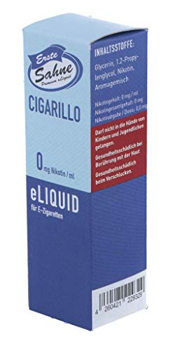 Erste Sahne Liquid - Cigarillo - 0 mg/ml, 20 g