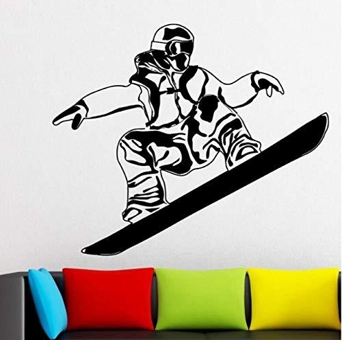 Wandtattoos Kunstaufkleber Snowboarden Skisport Skifahren Poster Spieler Arbeiten Kunst Vinyl Snowboard Home Decoration Aus 45X53cm