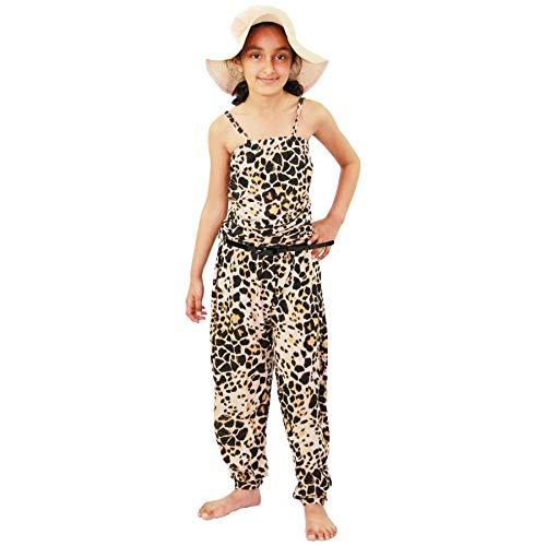 A2Z 4 Kids® Kinder Mädchen Schulterfrei Jumpsuit Leopard Aufdruck - Jumpsuit Leopard Print_13