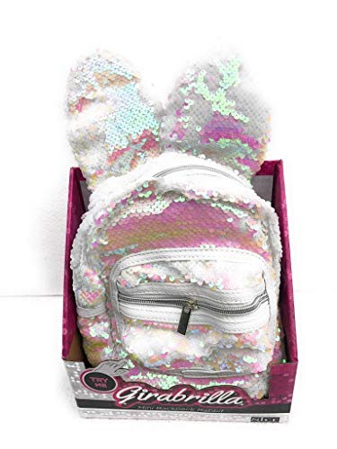 Girabrilla Mini backpack Rabbit Zaino con orecchie colore Bianco con effetto rosa come si vede da foto - originale di Nice