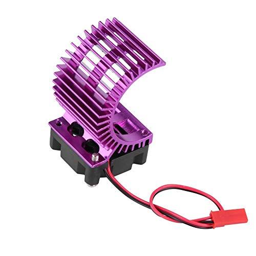 Drfeify Disipador de Calor de Motor, disipador de Calor RC con Ventilador de refrigeración Compatible con Motor eléctrico de Coche RC 540/550 a Escala 1/10(Púrpura)