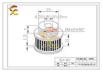 機械式ラウンドベルトプーリー3Dプリンタの場合 40歯GT2プーリーボア5mm 6.35mm 8mm幅10mm GT2タイミングベルト小さなバックラッシュ2GTベルト40Teeth (Bore Diameter : 12mm, Number of Pcs : 1pc)