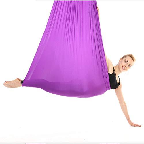 VDSOIUTYHFV Hamaca Yoga aérea Columpio Yoga Seda aérea Premium para Fitness aéreo antigravedad, Ejercicios de inversión, flexibilidad Mejorada