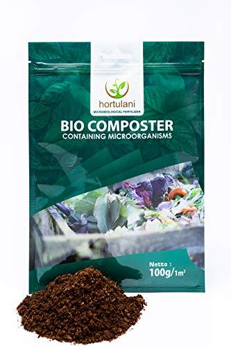 Hortulani BioComposter - 100% natürlicher Komposthersteller und Beschleuniger zur Herstellung des besten Komposts für Tomaten, Kräuter, Gemüse und andere wachsende Pflanzen in Ihrem Garten.