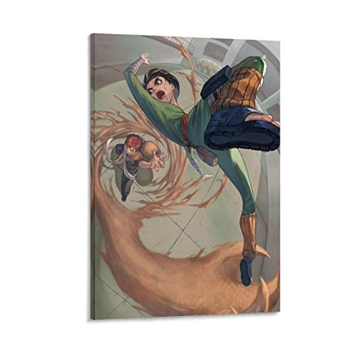Qunima Anime Rock Lee Naruto Canvas Art Poster and Wall Art Picture Print Modern Family Bedroom Decor Posters 12x18inch(30x45cm)