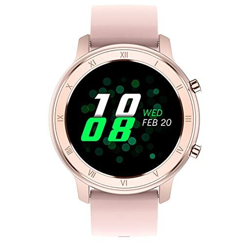 Rvlaugoaa Smartwatch para Mujer con Múltiples Modos Deportivos,Pulsera Deportiva De Moda para Mujer, Reloj Inteligente A Prueba De Agua Ip68 De 1,28 Pulgadas para Teléfonos iPhone/Android