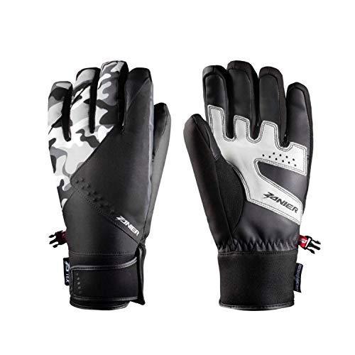 Zanier Handschuhe Sölden ZX Unisex Skihandschuhe für Damen und Herren, Größe:XXL, Farbe:Camouflage