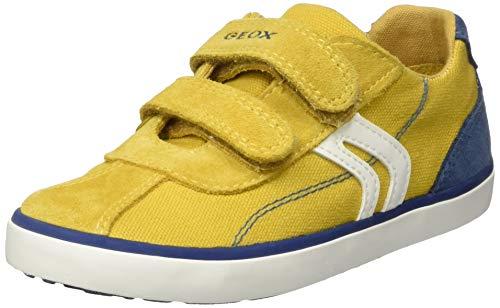 Geox Jungen B Kilwi Boy G Sneaker, Gelb (Dk Yellow/Avio C2g4b), 23 EU