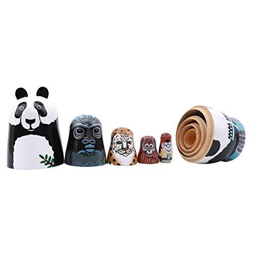 Winwinfly Matroschka Holzspielzeug Handwerk Geschenk Russische Puppen Nesting Dolls Marionette Geschenk Souvenirs