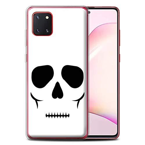 Stuff4 Gel TPU Hülle/Hülle für Samsung Galaxy Note 10 Lite 2020 / Schädel Muster/Halloween Zeichen Kollektion