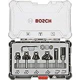 Bosch Professional Set da 6 Pezzi di frese per profili, smussartue e scanalature, per legn...